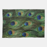 Peacock Feather Print Kitchen Towels