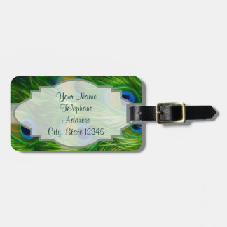 Peacock Feather Print Bag Tag
