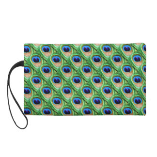 Peacock Feather Print Wristlet