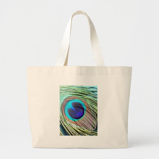 Peacock Feather Product Tote Bag