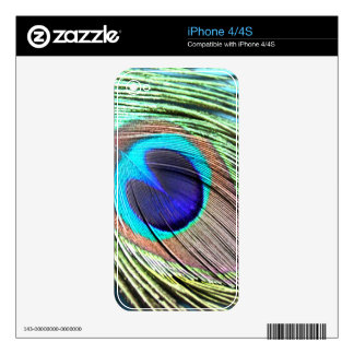 Peacock Feather Product Skin For iPhone 4S