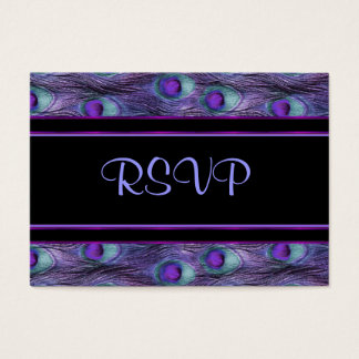 Peacock Feather Purple - RSVP Business Card