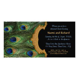 Peacock Feather Rehearsal Dinner Invitation
