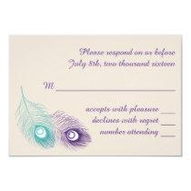 Peacock Feather Response Card