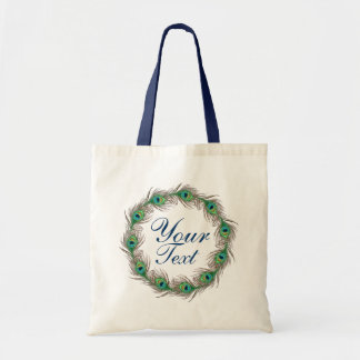 Peacock feather ring template text bags