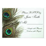 Peacock Feather RSVP Card Personalized Announcement