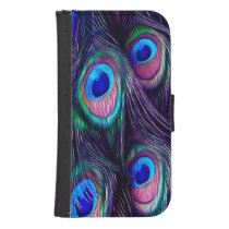 Peacock Feather Samsung S4 Wallet Case