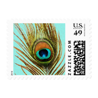 Peacock Feather Set 1107 Postage