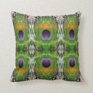 Peacock Feather Show Throw Pillows