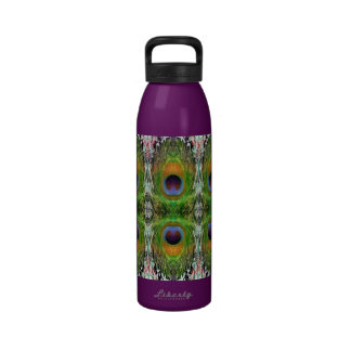 Peacock Feather Show Water Bottles