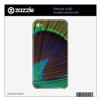 Peacock feather skin for iPhone 4S