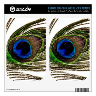 Peacock Feather FreeAgent GoFlex Decal