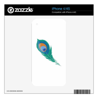 Peacock Feather Decals For The iPhone 4S