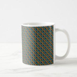 Peacock Feather (Small Repeat) Design Mug