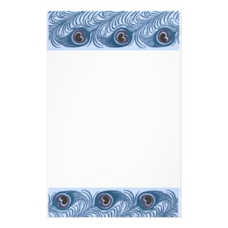 Peacock feather stationery design