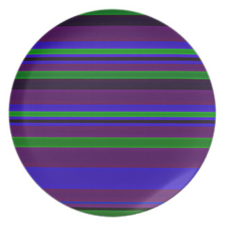 Peacock Feather Stripes Plates