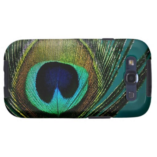 Peacock Feather Stylish Chic Photography CaseMate Galaxy SIII Cover