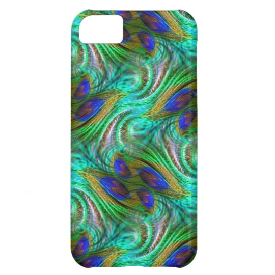 Peacock Feather Swirl Pattern iPhone 5 Case