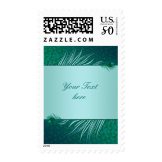 Peacock feather template postage