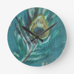Peacock Feather Wall Clocks