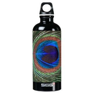 Peacock Feather Water Bottle