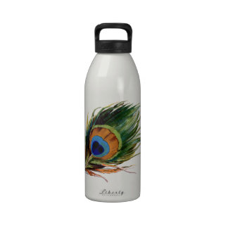 Peacock Feather Water Bottles