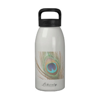 Peacock Feather Drinking Bottle