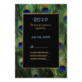 Peacock Feather Wedding Invitation - RSVP Invites