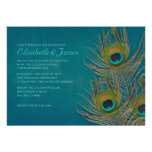 Peacock Feather Wedding Invitations Personalized Invites