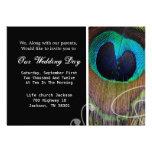 Peacock Feather Wedding Invites
