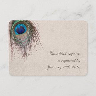 Peacock Feather Wedding RSVP