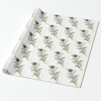 peacock feather -WOWCOCO Wrapping Paper