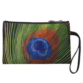 """Peacock Feather"" Wristlet Wallet"