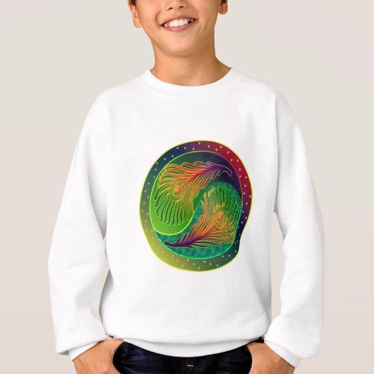 Peacock Feather Yin Yang 3 Sweatshirt