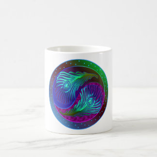 Peacock Feather Yin Yang 5 Coffee Mug