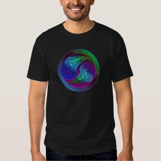 Peacock Feather Yin Yang 5 T-shirt