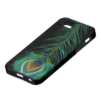 Peacock Feather You Choose Background Color iPhone 5 Cover