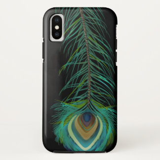 Peacock Feather You Choose Background Color iPhone X Case
