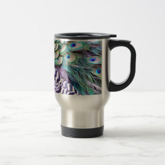 Peacock Feathers 15 Oz Stainless Steel Travel Mug