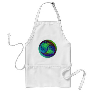 Peacock Feathers 1 Yin Yang Adult Apron