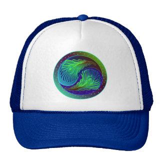 Peacock Feathers 1 Yin Yang Trucker Hat