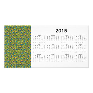 Peacock Feathers 2015 Calendar Photo Card