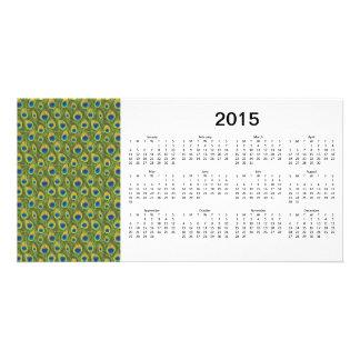 Peacock Feathers 2015 Calendar Photo Card
