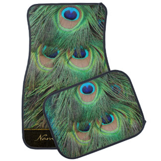 Peacock Feathers 3 Options Car Mat