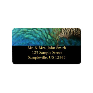 Peacock Feathers Address Label
