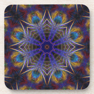 Peacock Feathers Autumn Country Art : Set of Six Coaster