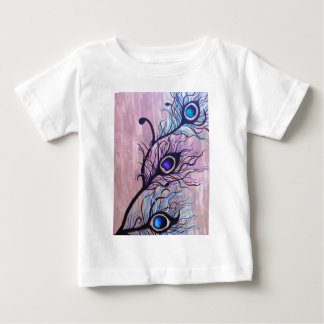 Peacock Feathers Baby T-Shirt