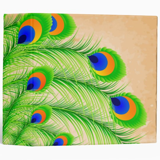 Peacock Feathers Binder