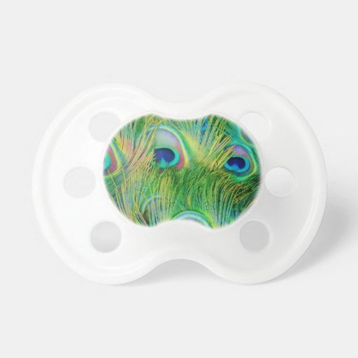 Peacock Feathers BooginHead Pacifier