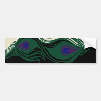 Peacock Feathers Border Bumper Stickers